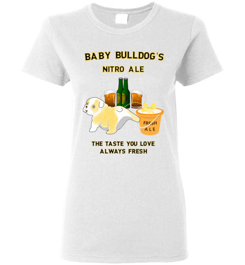 Baby Bulldog's Nitro Ale - Gildan Ladies Short-Sleeve T-Shirt