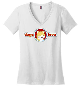 Doge I Love You - Ladies V-Neck