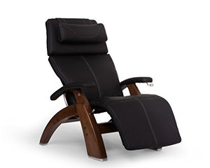 "Perfect Chair ""PC-420"" Better-Than-Leather SofHyde Hand-Crafted Zero-Gravity Walnut Manual Recliner, Black"