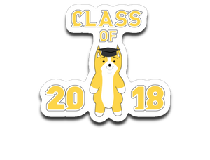 "Class of 2018 - 4"" x 3"" Decal"