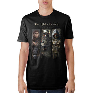 Elder Scrolls Char Black T-Shirt