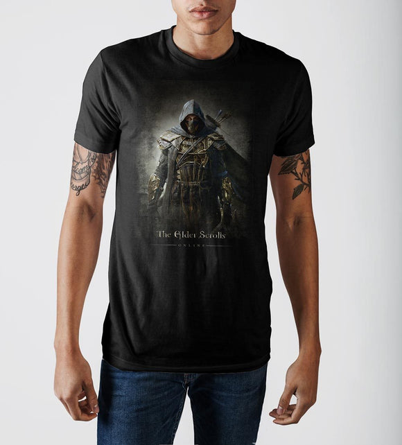 Elder Scrolls Archer Character Men's Black Graphic Print T-shirt