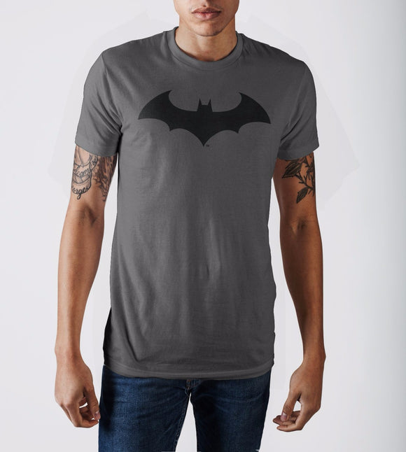 Batman Bat Fly Mens Charcoal T-Shirt