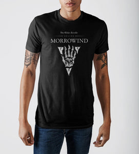 The Elder Scrolls III Morrowind Emblem Men's Black Graphic Print T-shirt