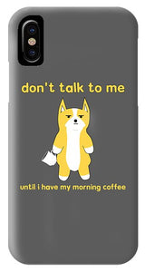 Akita Morning Coffee - Phone Case