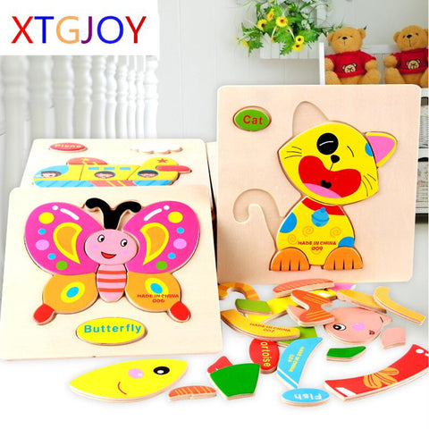 3D Puzzle Wooden Toy Jigsaw