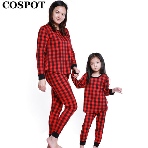 Mom and Daughter Christmas Red Plaid Pajamas