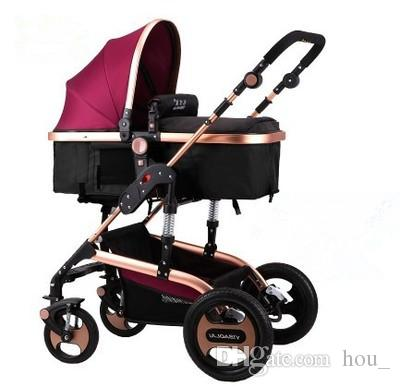 2017 new luxury baby stroller high-landscape baby pram