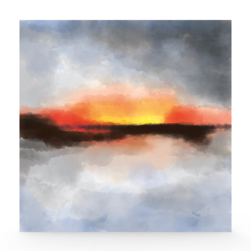 Limited edition abstract 'Sunset' print lightbox