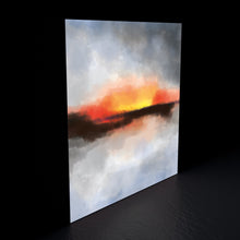 Limited edition abstract 'Sunset' print canvas
