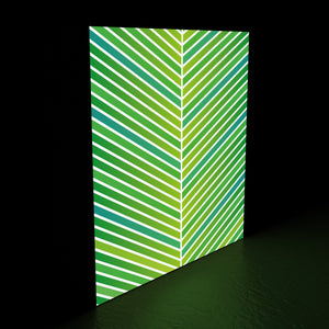 Geometric leaf lightbox