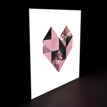 Geometric heart lightbox