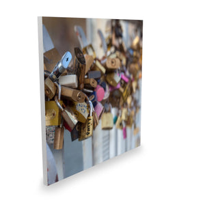 Padlock bridge canvas