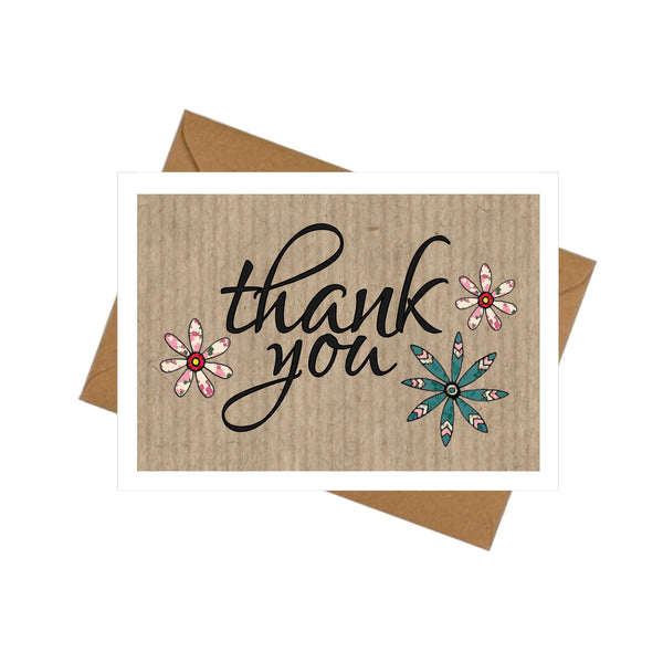 10 mini thank you cards envelopes flowers something small