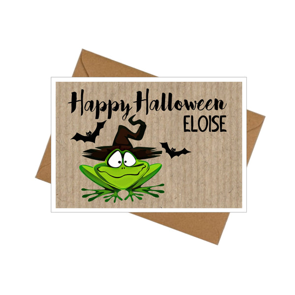 Halloween cards with envelopes little frog plain or personalised halloween cards with envelopes little frog plain or personalised m4hsunfo