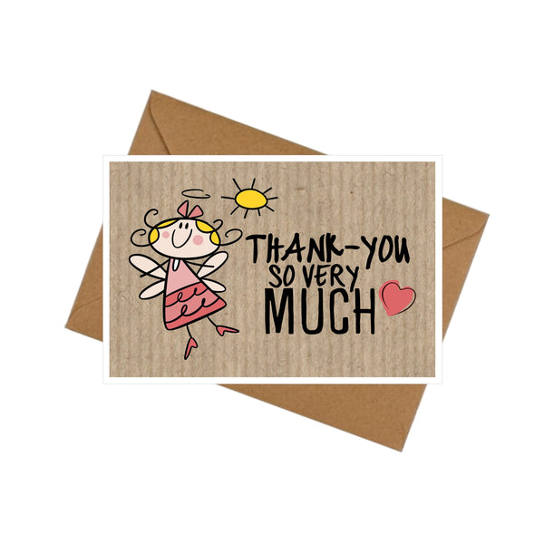 10 mini thank you cards envelopes angel plain or personalised