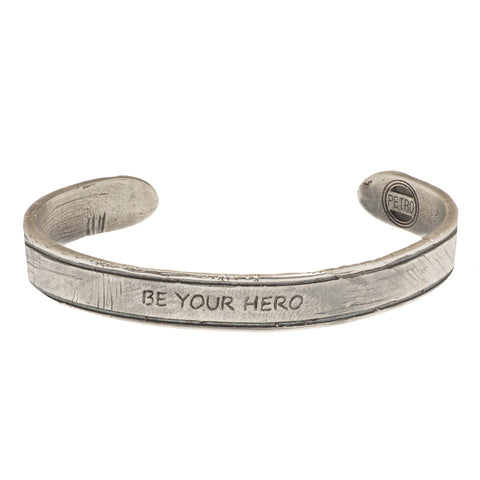 Be Your Hero Silver Bracelet