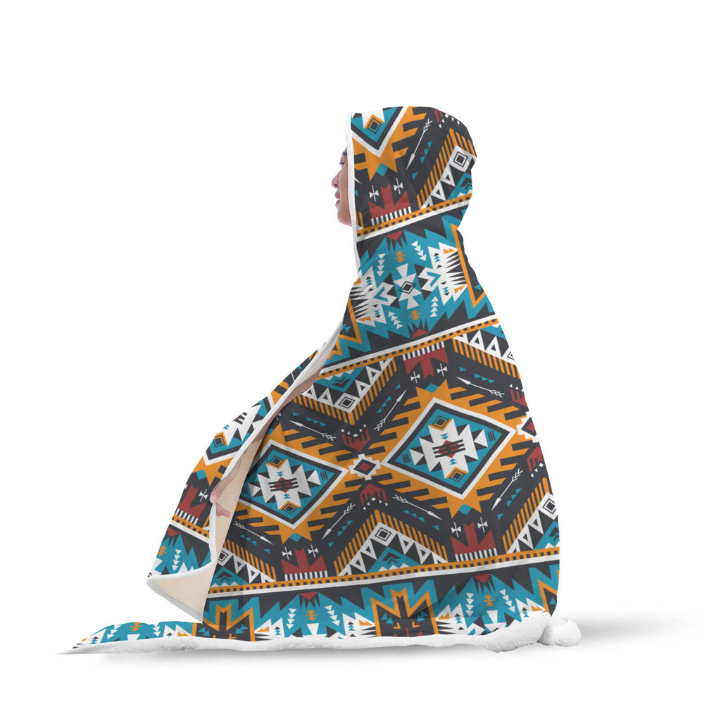 Image of Native Tribe Inspired Hooded Blanket