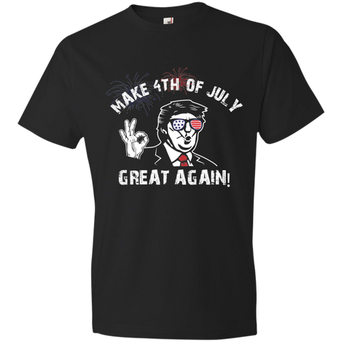 Image of Trump 4th Great Again 980 Anvil Lightweight T-Shirt 4.5 oz