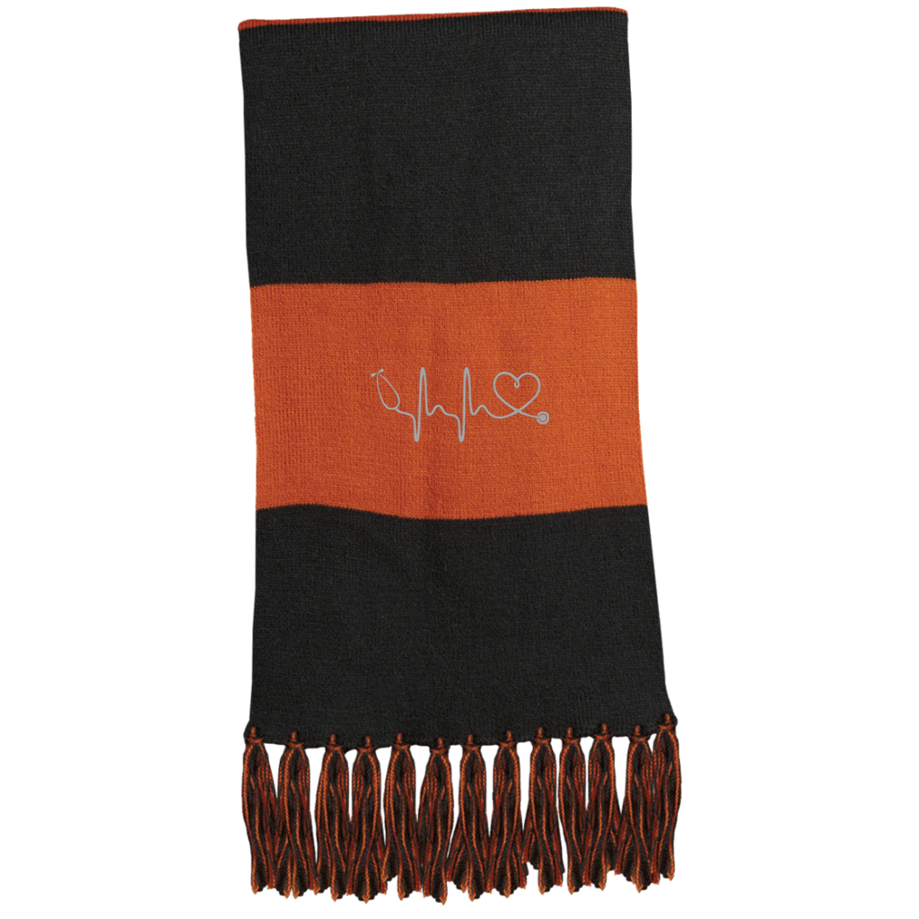 Amazing Nurse/Doctor Heart Embroidered Fringed Scarf