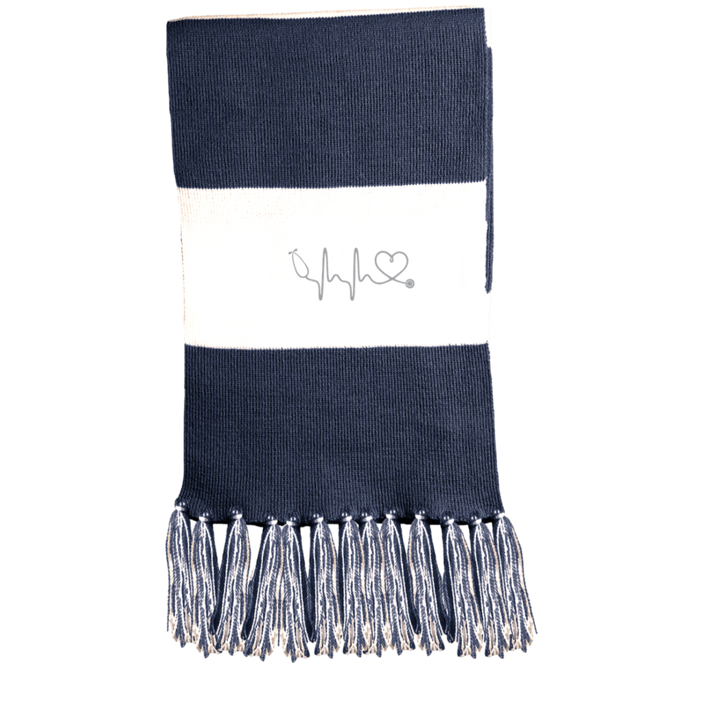 Image of Amazing Nurse/Doctor Heart Embroidered Fringed Scarf