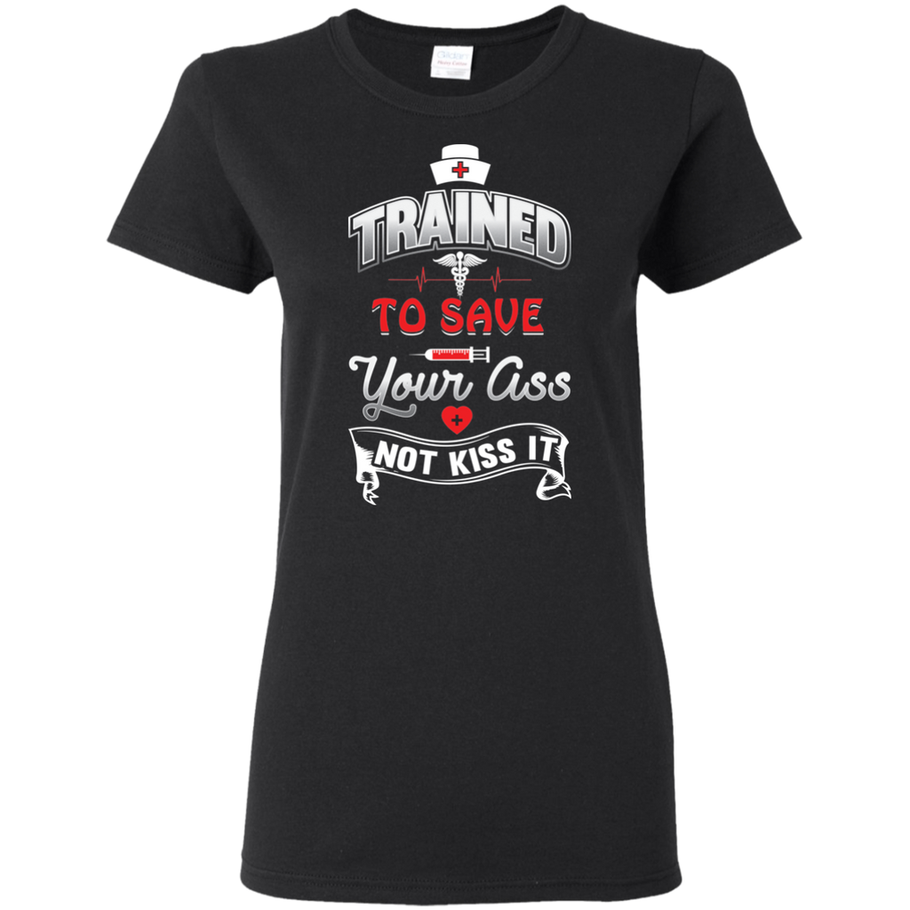 TRAINED TO SAVE G500L Gildan Ladies' 5.3 oz. T-Shirt