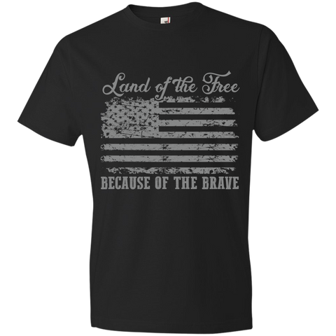 Image of Home of the Brave 980 Anvil Lightweight T-Shirt 4.5 oz