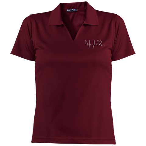 Image of Amazing Nurse/Doctor Heart Embroidered Short Sleeve Polo