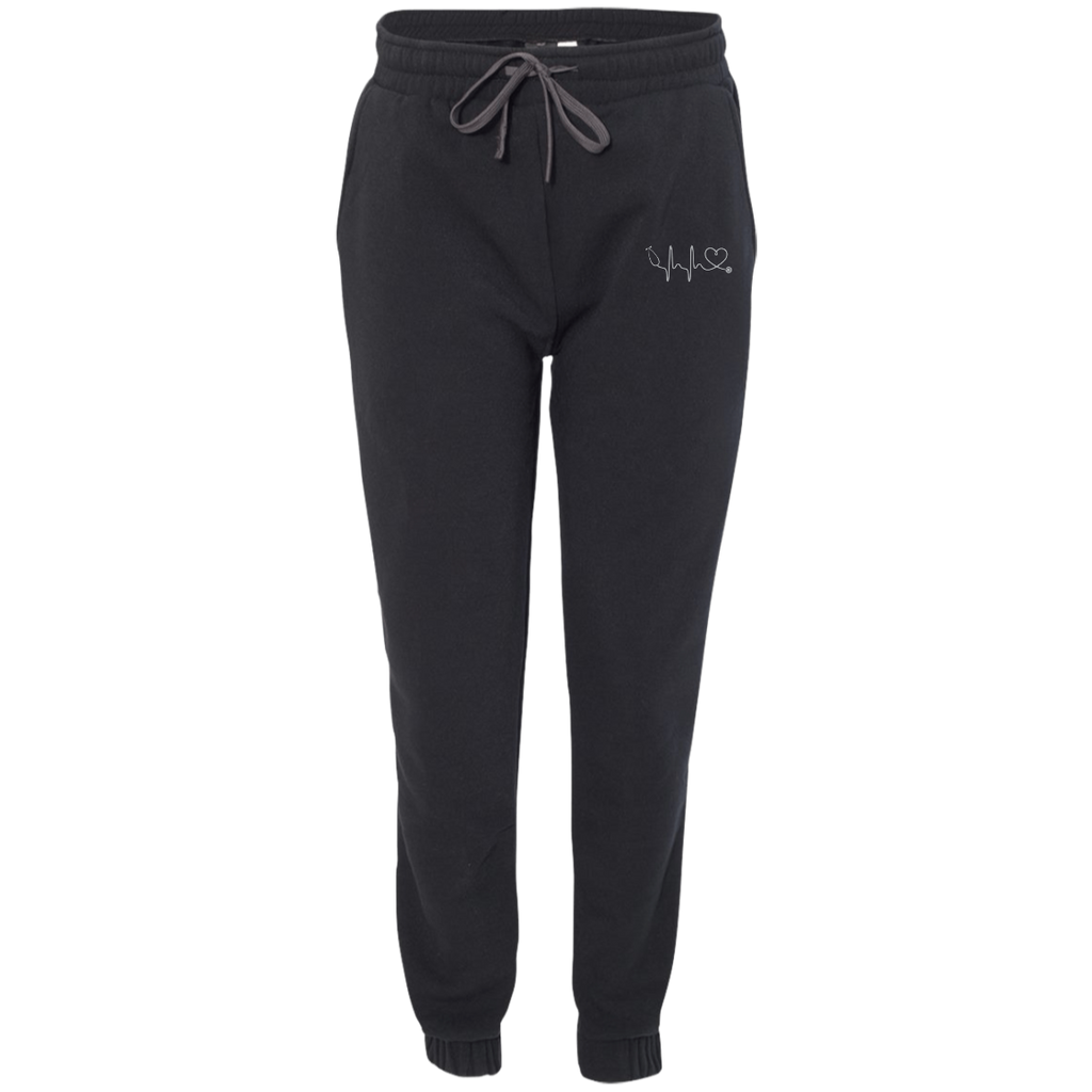 Amazing Nurse/Doctor Heart Embroidered Adult Fleece Joggers