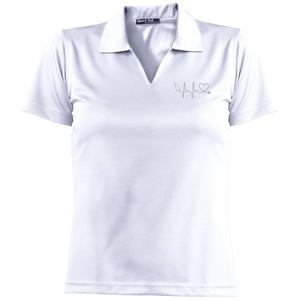 Amazing Nurse/Doctor Heart Embroidered Short Sleeve Polo