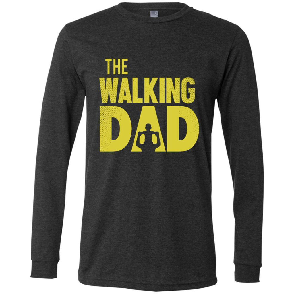 Image of The Walking Dad Men's Jersey LS T-Shirt-T-Shirts-Amazing Tee Swag