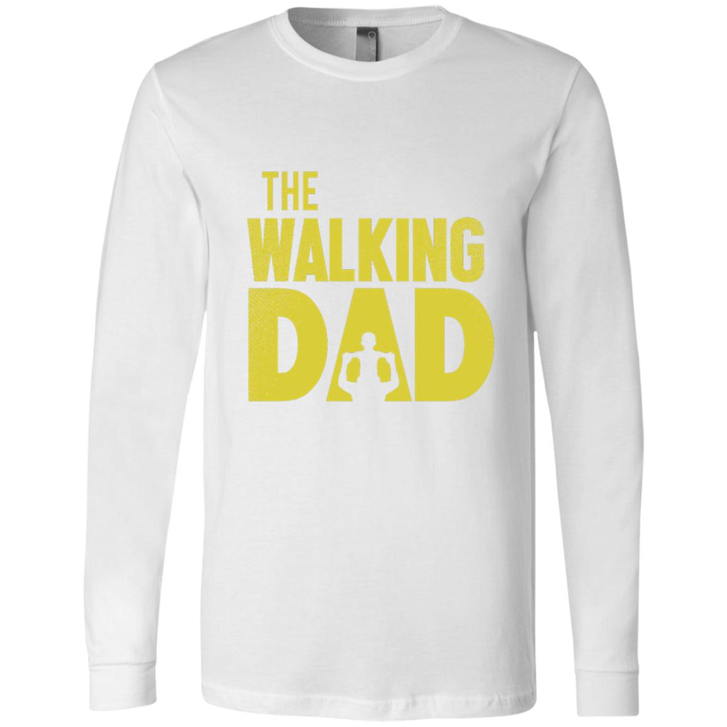 The Walking Dad Men's Jersey LS T-Shirt-T-Shirts-Amazing Tee Swag