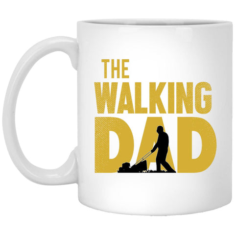 Walking Dad Lawn 11 oz. White Mug-Drinkware-Amazing Tee Swag