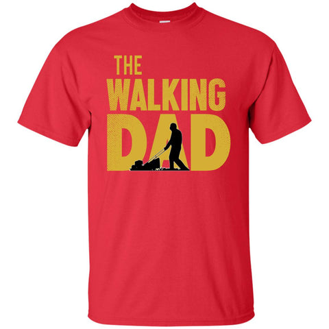 Image of Walking Dad Lawn Cotton T-Shirt-T-Shirts-Amazing Tee Swag