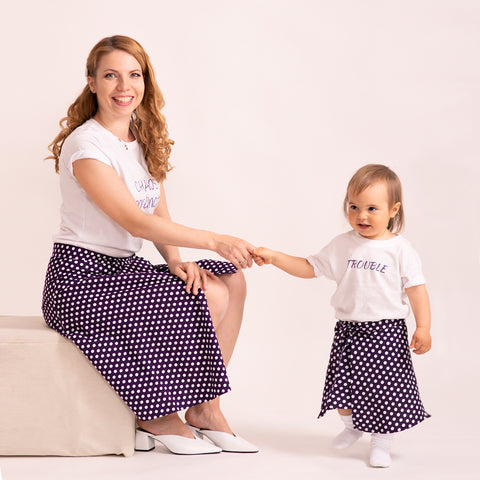 "Women Skirt ""Polka Dot Wrap Around"" — Mommy & Me Collection"