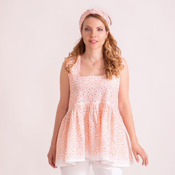 "Women Broderie Top ""Swing Parisian"" - Mommy & Me Collection"
