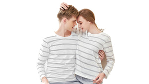 Pajama Set for Couples - Stripes