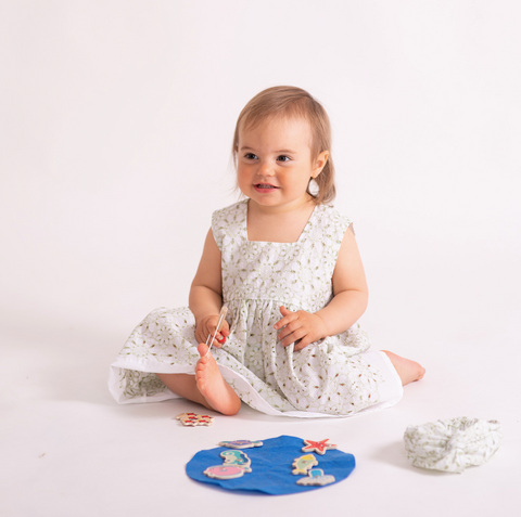 "Child Broderie Dress ""Swing Parisian"" - Mommy & Me Collection"