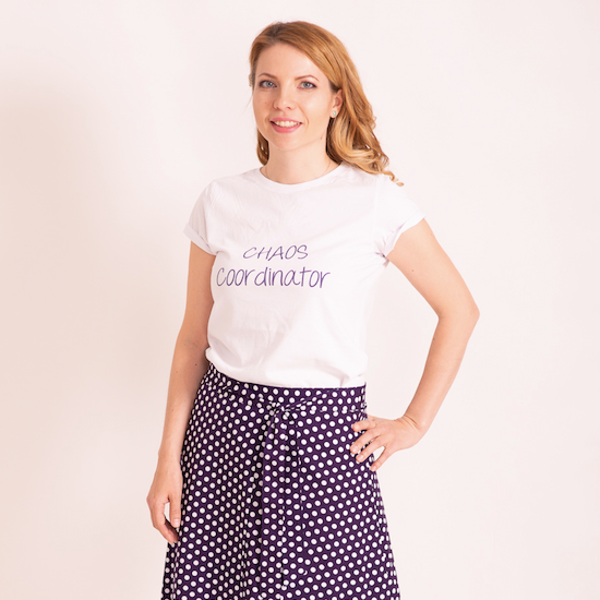 "Women T-Shirt ""Chaos Coordinator"" — Collection ""Double-Trouble-Chaos Coordinator"""