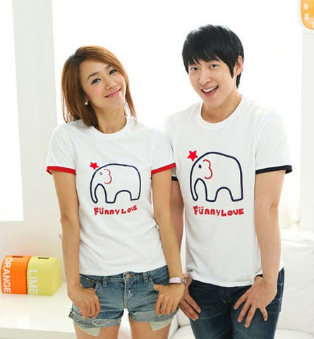 "Couple T-Shirt ""Elephant"""