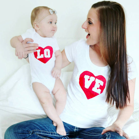 "Mother & Baby Top ""LO VE"""