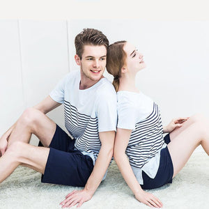Pajama Set for Couples - Summer Stripes