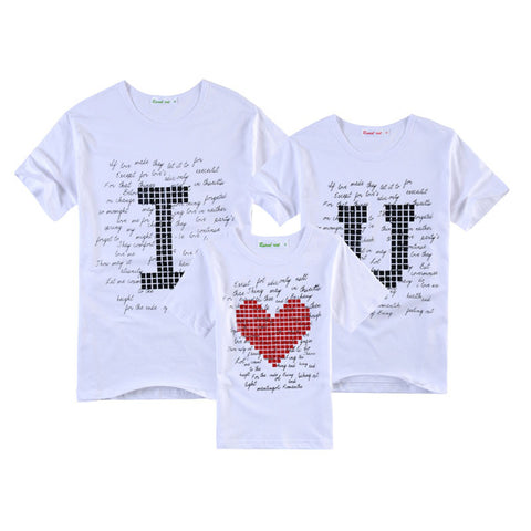 "Family T-Shirt ""I Love U Pixel"""