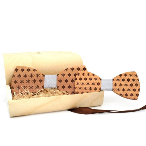"Father & Son Bowtie Gift Set ""Geometry"""