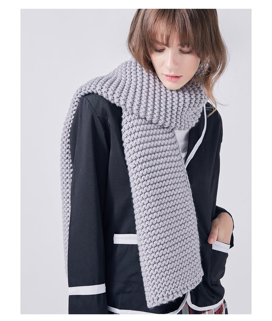 Couple Winter Scarf Trendy Knitting Matching Style