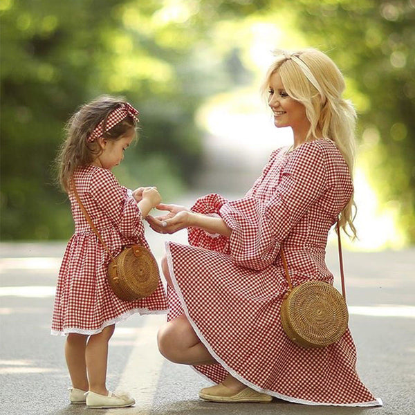 Mommy & Me Dress ''Red Gingham""