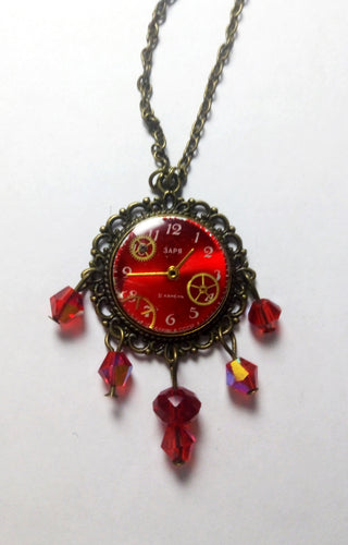 Steampunk Old Watch Necklace