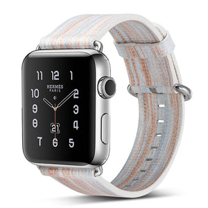 Multi-Colored Leather Apple Watch Band