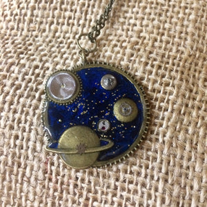 Space Steampunk Necklace