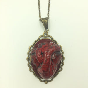 Anatomical Heart Steampunk Necklace